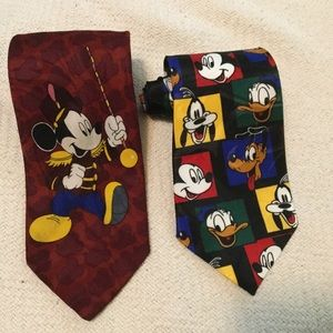 Pair of Disney Mickey Mouse 👔 ties